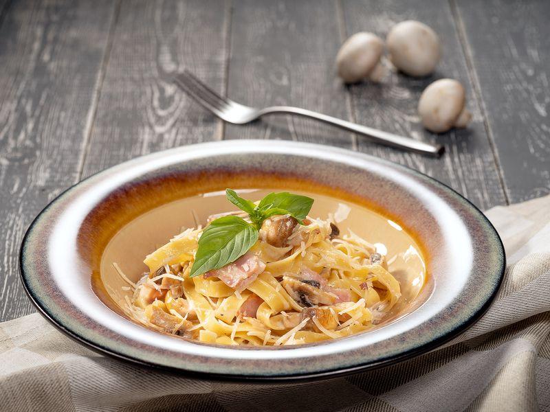Паста с опятами в сливочном соусе рецепт